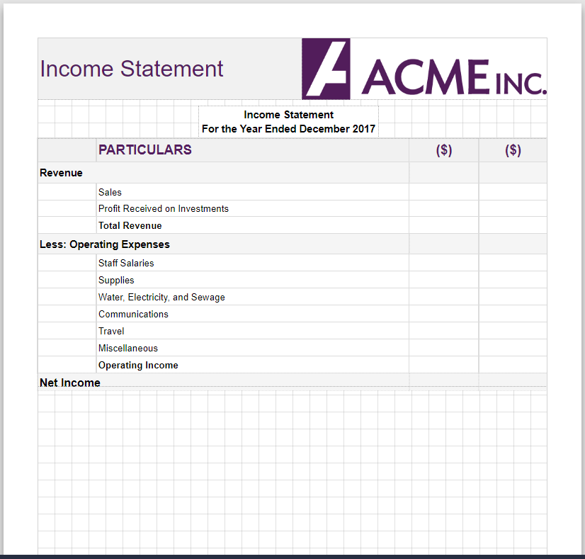 Design Templates for .NET Financial Reports