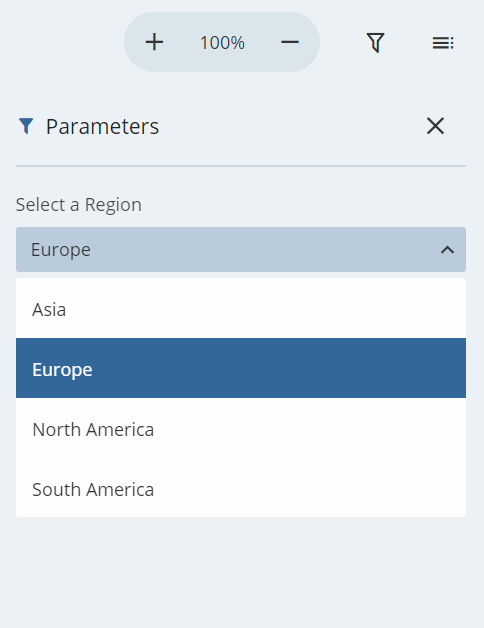 Parameters in the JSViewer