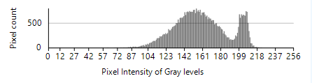 Image histogram representing gray levels of an image