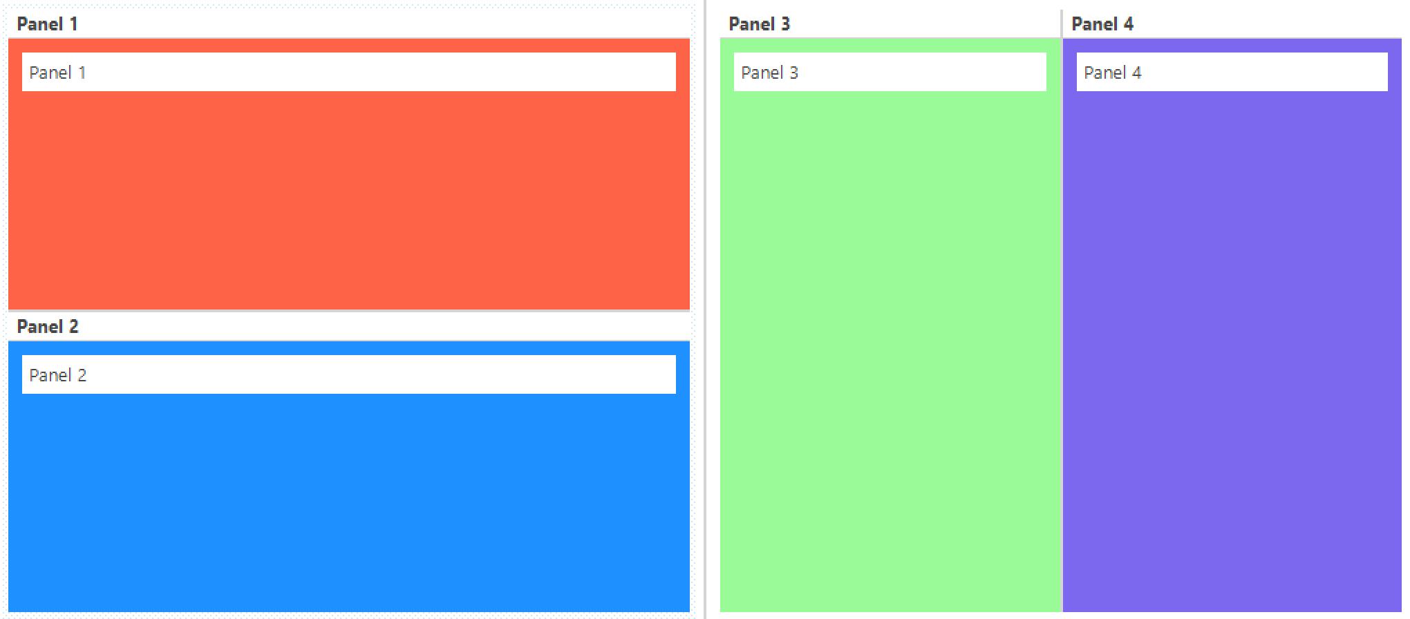 Split layout