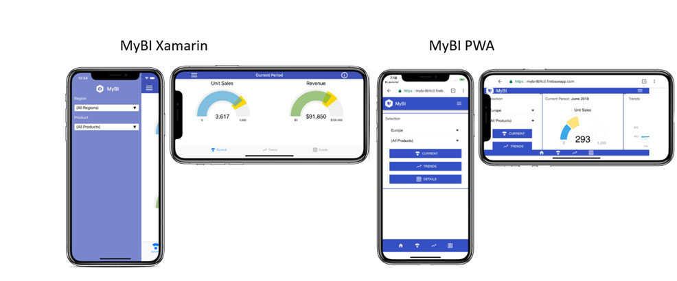 MyBI Screen Layout and Behavior