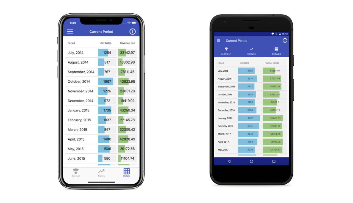 Xamarin Business Intelligence app