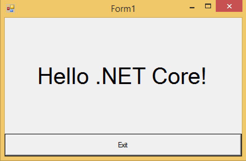 Hello .NET Core