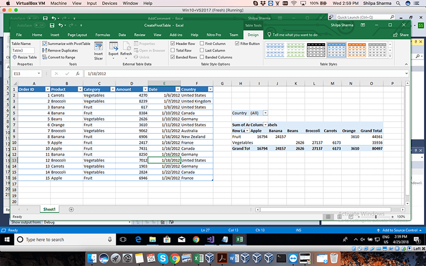 Use pivot tables