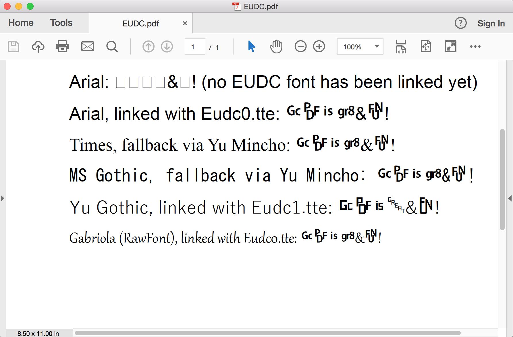 EUDC font support