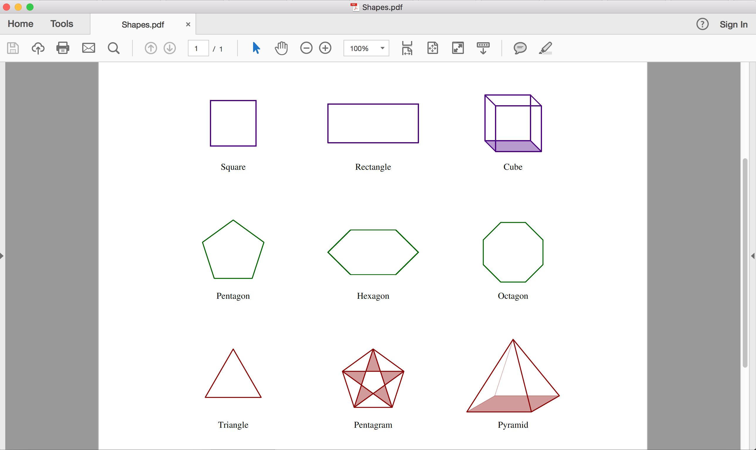 Complex shape support in PDF API