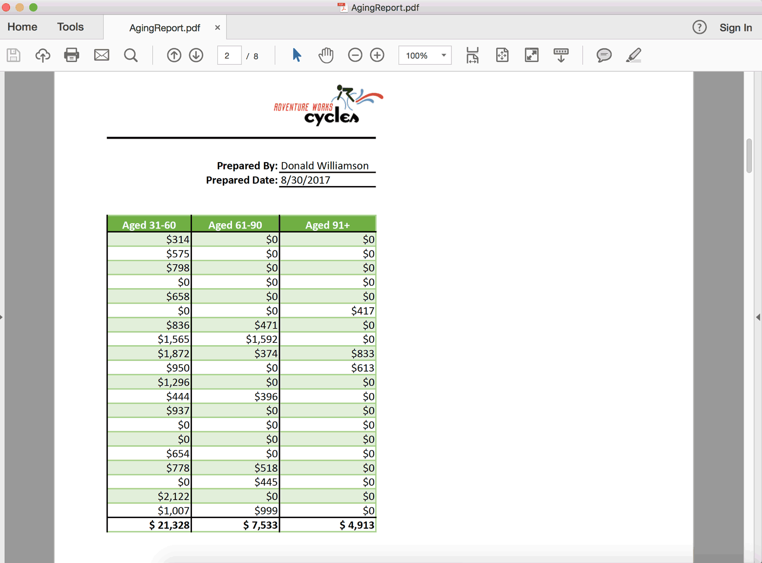 Convert Excel Spreadsheets to PDF