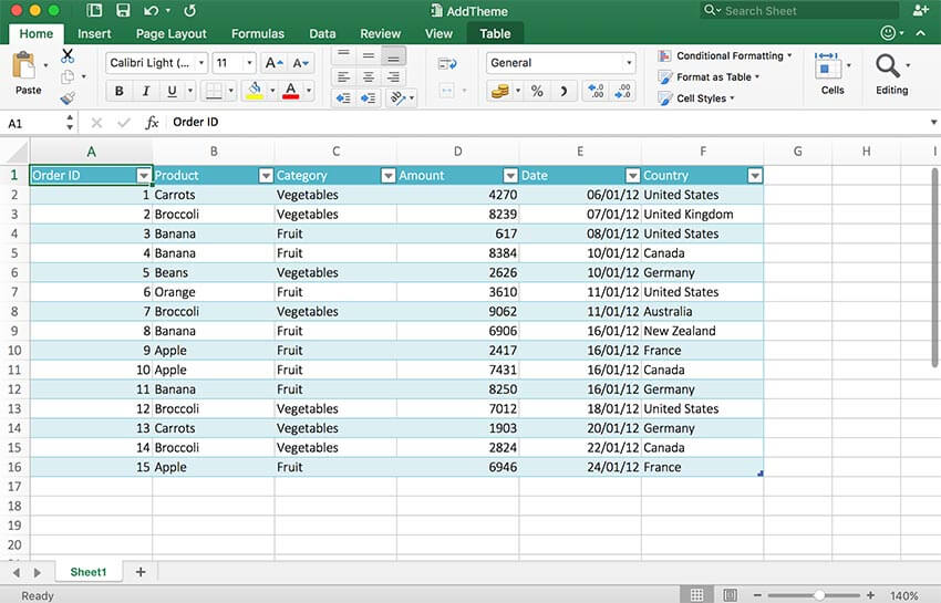 GrapeCity Documents for Excel, Java - Add Themes to change the look of your spreadsheet