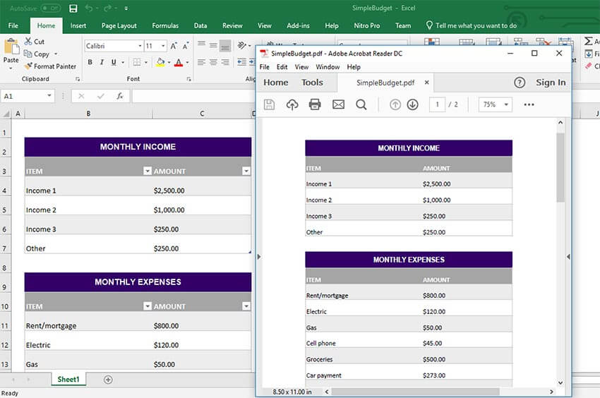 GrapeCity Documents for Excel, Java Exporting