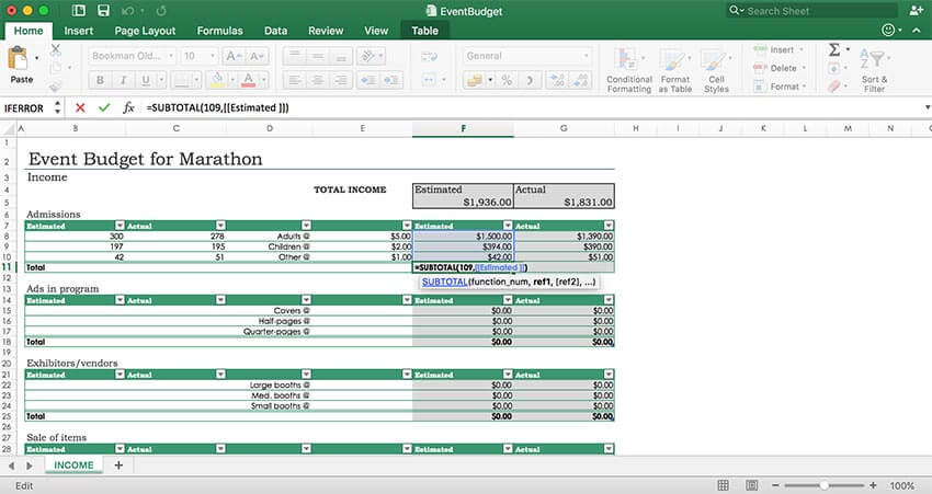 GrapeCity Documents for Excel, Java - Add formulas