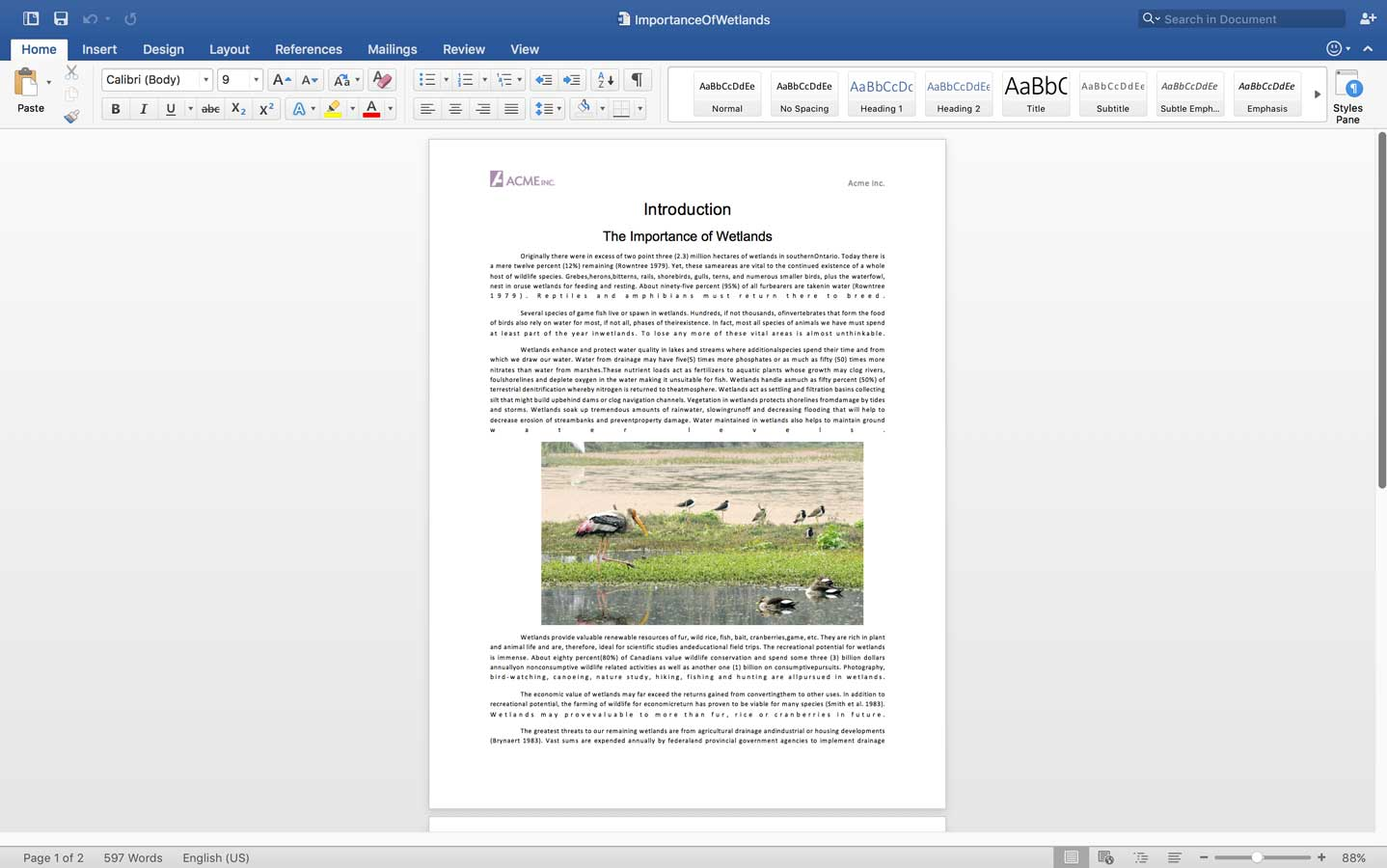 Modifying Word document and adding pictures