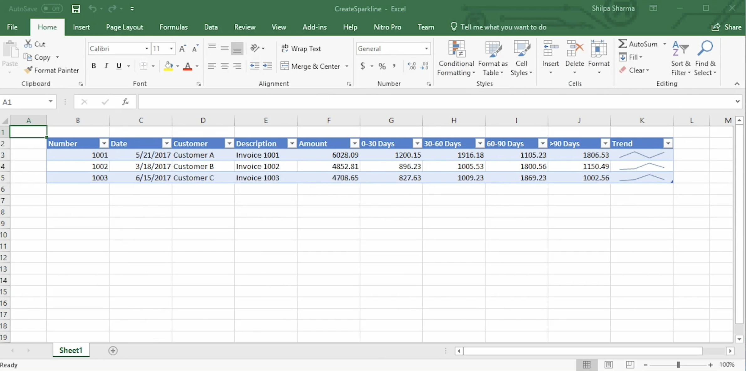 Documents for Excel, .NET Edition | How to Add Sparklines to a Spreadsheet