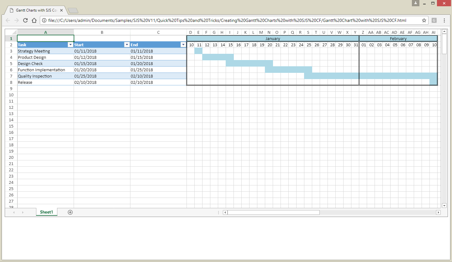 Final Workbook With A Gantt Chart