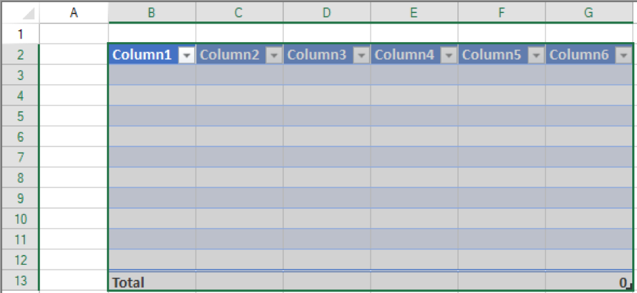 A table is required to use structured references