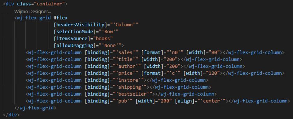 Using the Wijmo Designer Extension for Visual Studio Code