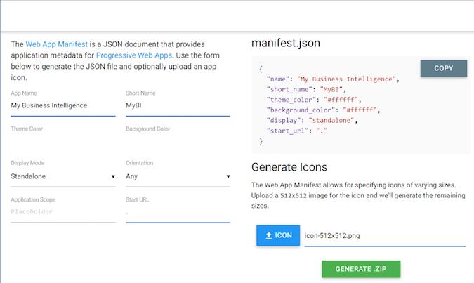 MyBI: Built in JavaScript