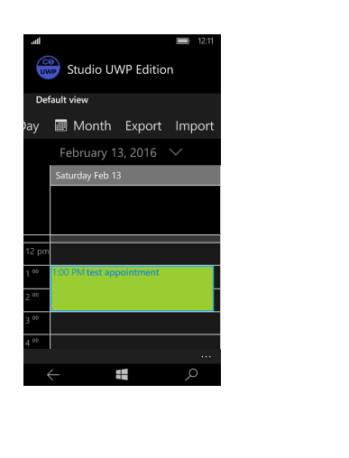 UWP Scheduler Views