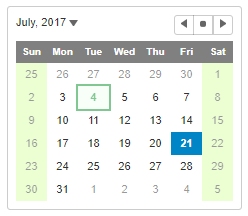 JavaScript Calendar Validation