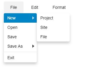 Submenu in JavaScript menu