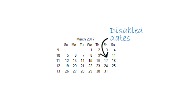WinForms CalendarView