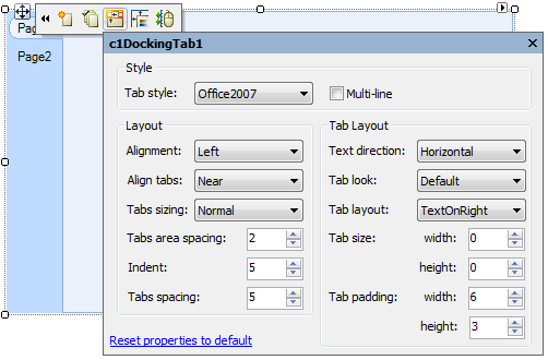 WinForms Docking Tab