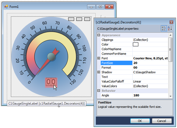 WinForms Gauges Editors