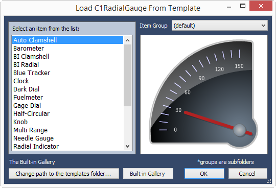WinForms Gauges Templates