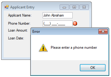 WinForms Error Detection