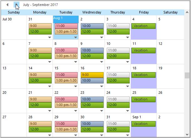 Scheduler for WinForms | ComponentOne