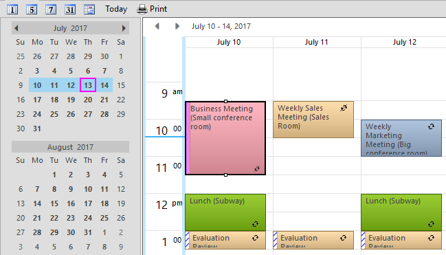 Scheduler for WinForms | ComponentOne