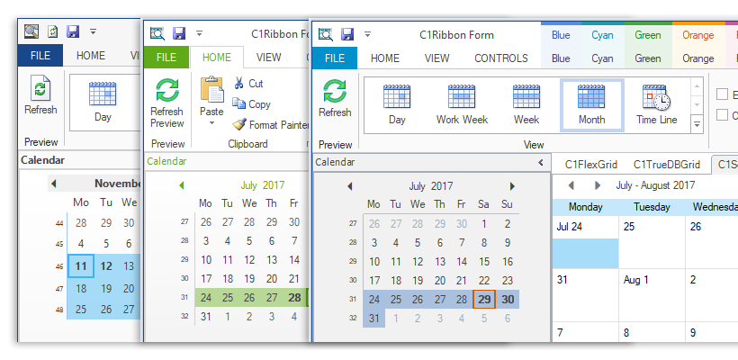 Themes for WinForms | ComponentOne