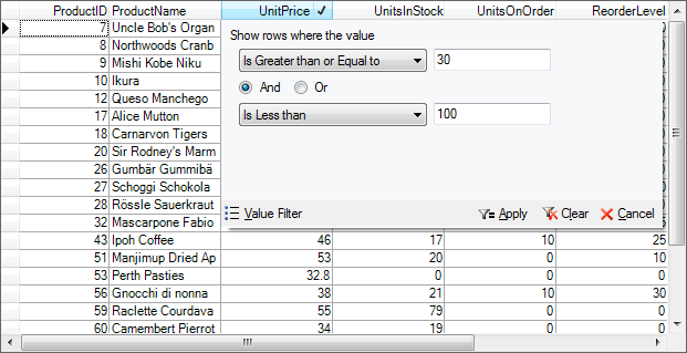 WinForms Data Grid True DBGrid