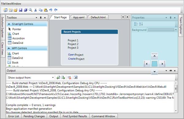 DockControl for WPF | ComponentOne