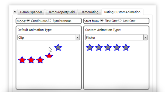 WPF Rating