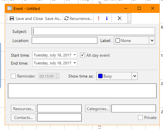 WPF Scheduler