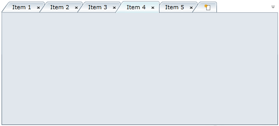 Tabcontrol for wpf componentone for Wpf tabcontrol template
