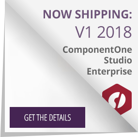 Get the details on the ComponentOne Studio Enterprise release