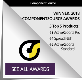 GrapeCity wins ComponentSource awards