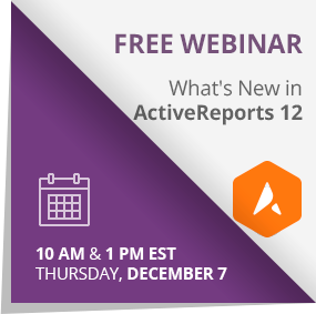 Register for the ActiveReports 12 webinar