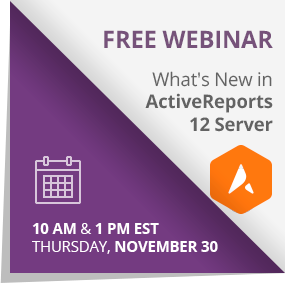 Register for the ActiveReports Server webinar