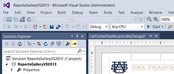 Developer PRO Visual Studio-Integrated Designer