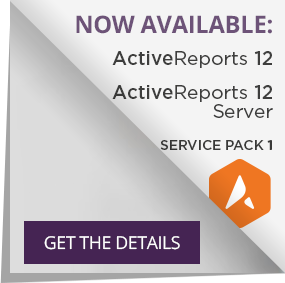 Get the details on the ActiveReports Service Pack 1