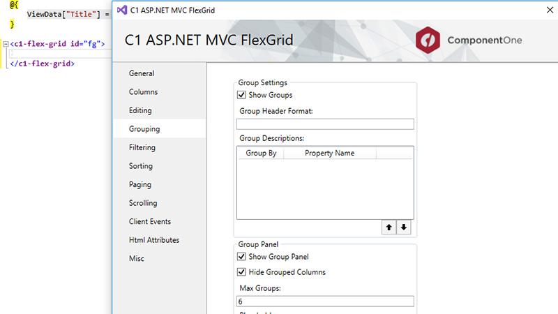 ASP NET MVC Controls | Visual Studio Components