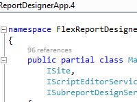 FlexReport Designer Source Code