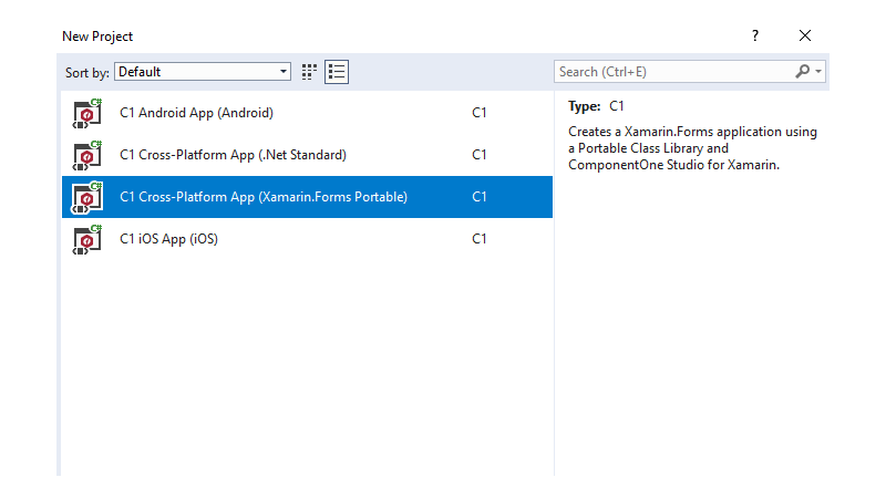 Xamarin controls componentone studio for xamarin ui for Xamarin studio code templates