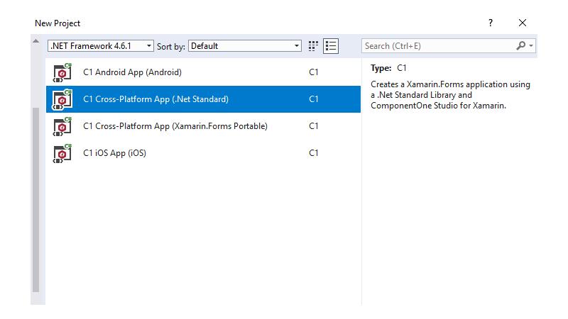 New .NET Standard project template