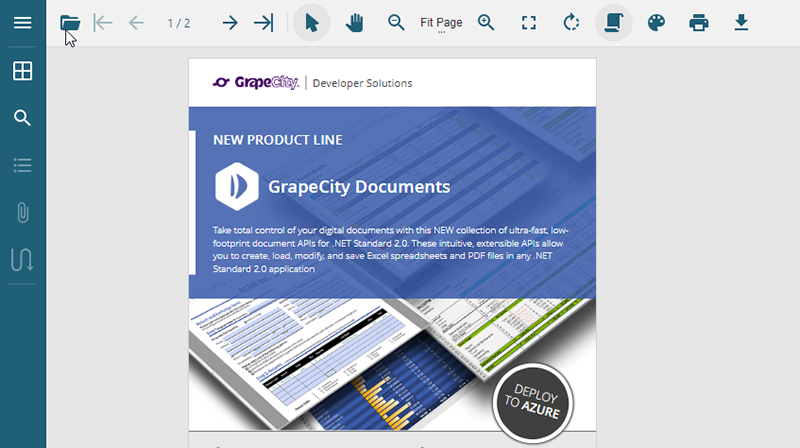 The New GrapeCity JavaScript PDF Viewer