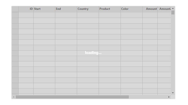 Virtual Scrolling .NET Data Grid