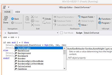 FlexReport  NET Reporting Engine | Visual Studio Components