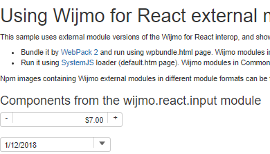 Using Wijmo for React external modules in WebPack and SystemJS